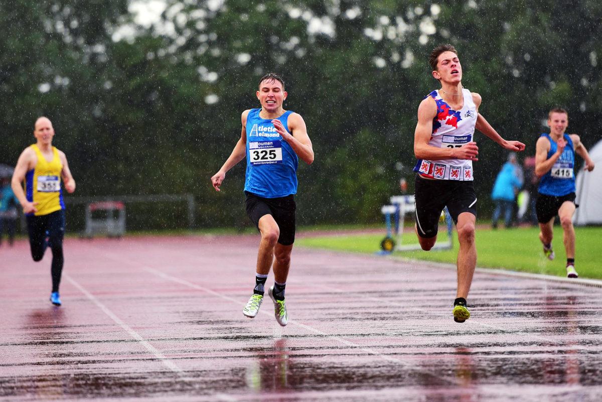 Jordi op weg naar een nieuw clubrecord 150m