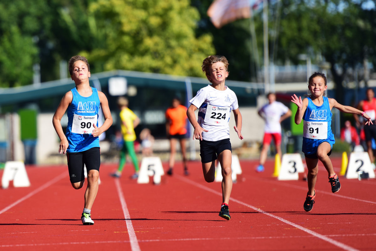 Kevin en Nina sprinten in Barendrecht