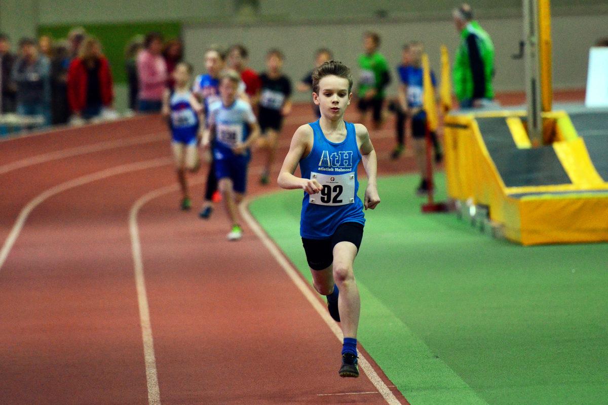Abel loopt een snelle 800m